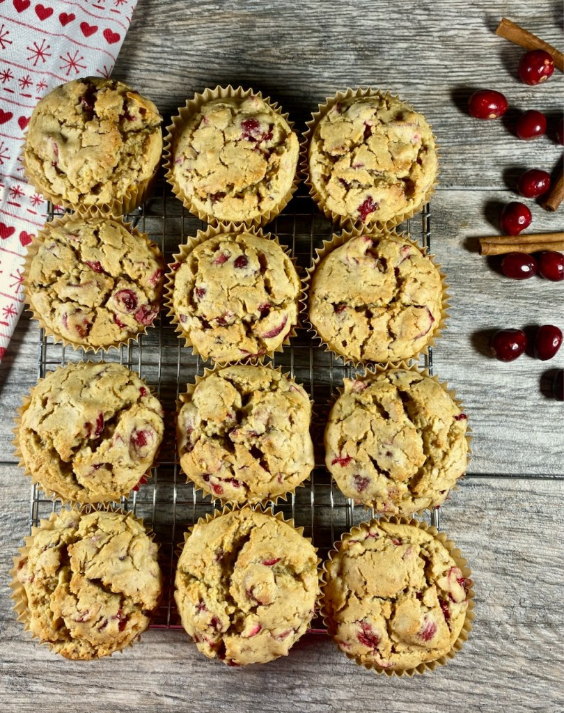 gluten-free glazed orange cranberry muffins