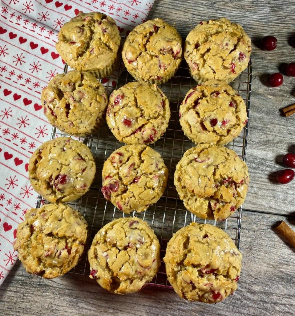 Gluten-Free Glazed Orange Cranberry Muffins