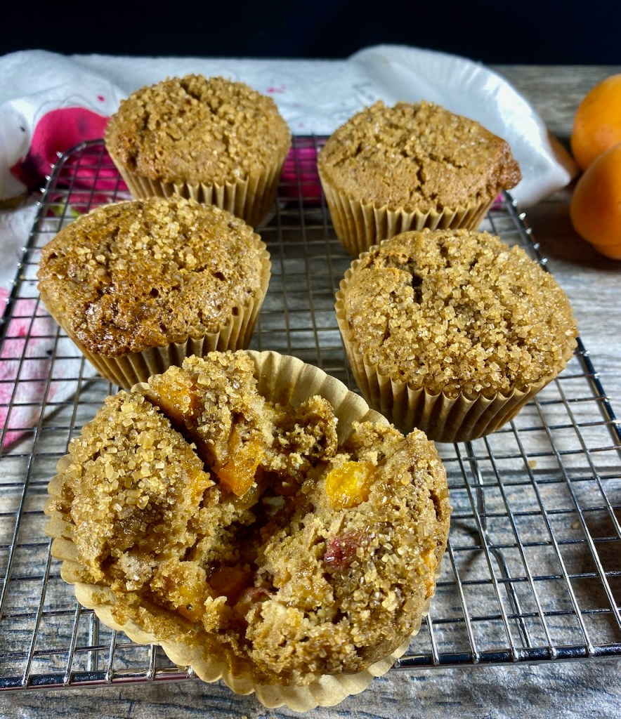 a look inside the gluten-free and dairy-free apricot raspberry muffins