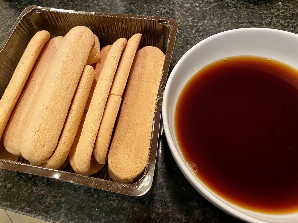 Schär gluten-free ladyfingers prepared instant espresso for the tiramisu