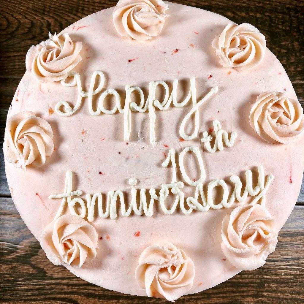 Wedding Anniversary Cake (gluten-free and vegan) from Gati/Thai Fresh specialty bakery