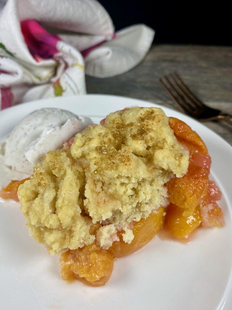 Gluten-Free Texas Peach Cobbler
