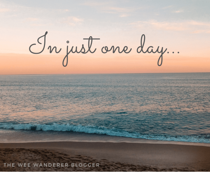 In just One Day…