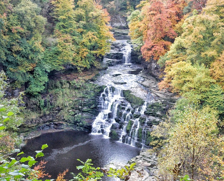 Falls of Clyde in Autumn