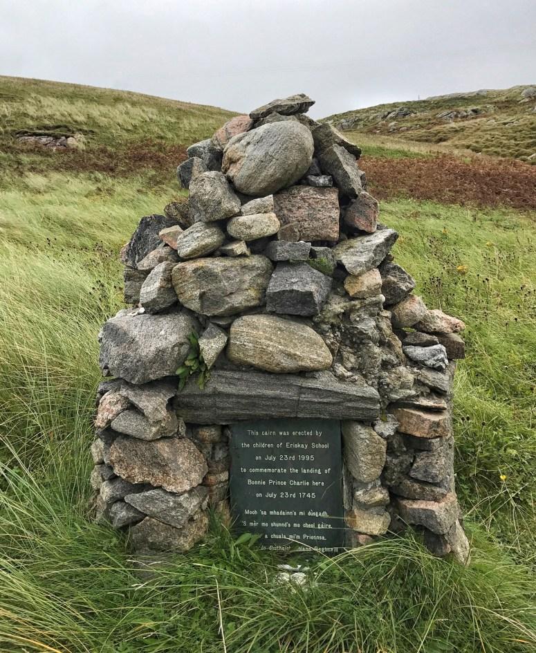 Bonnie Prince Charlie cairn, Eriskay