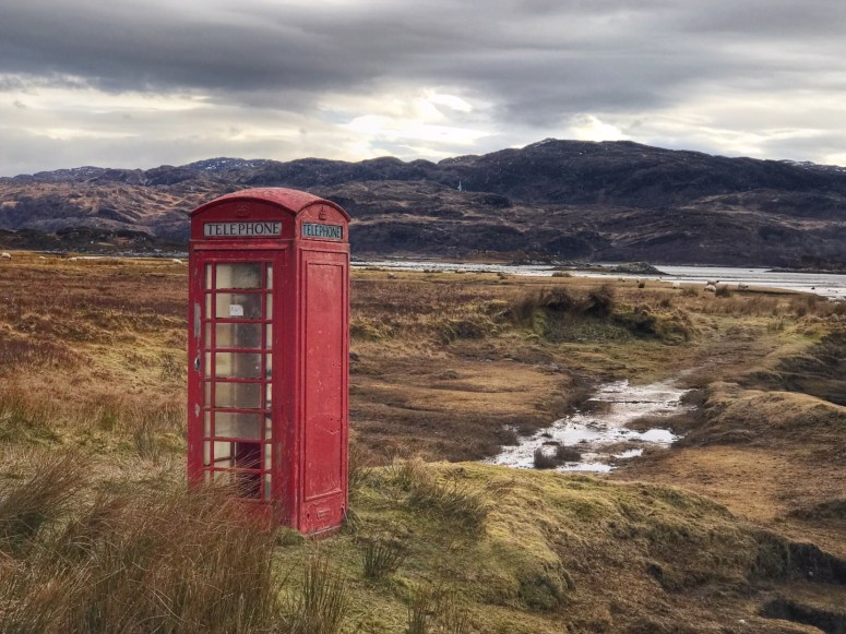 Telephone box, Ardnamurchan