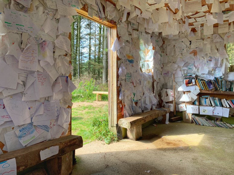 Eas Mor waterfall library hut
