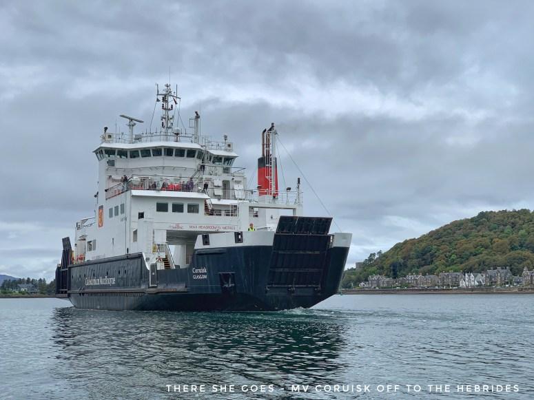 MV Coruisk leaving Oban