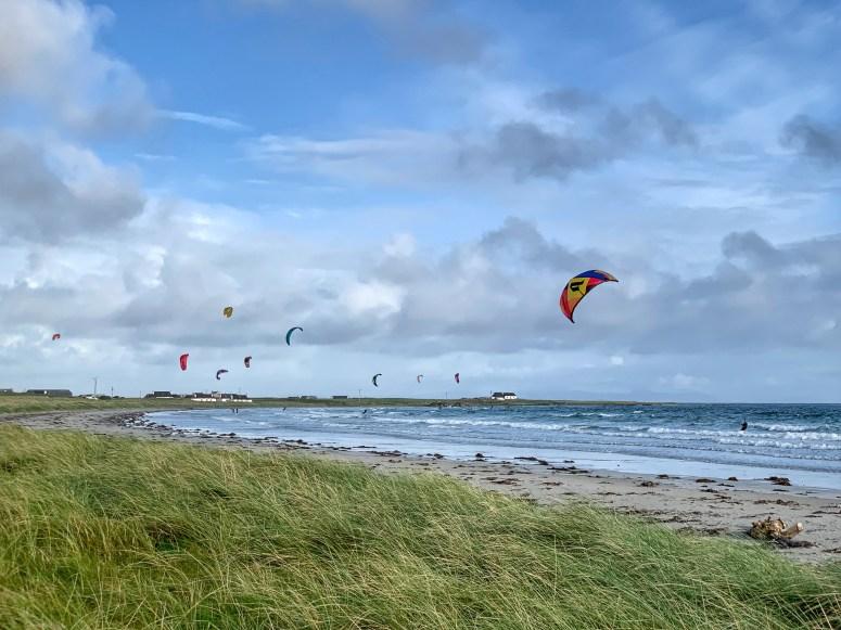 Kite surfers Isle of Tiree