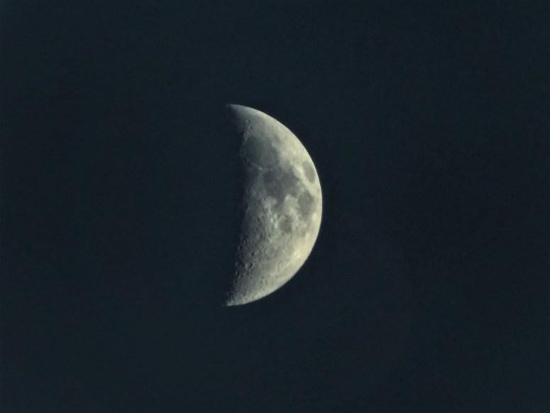 Moon, dark sky, Isle of Coll