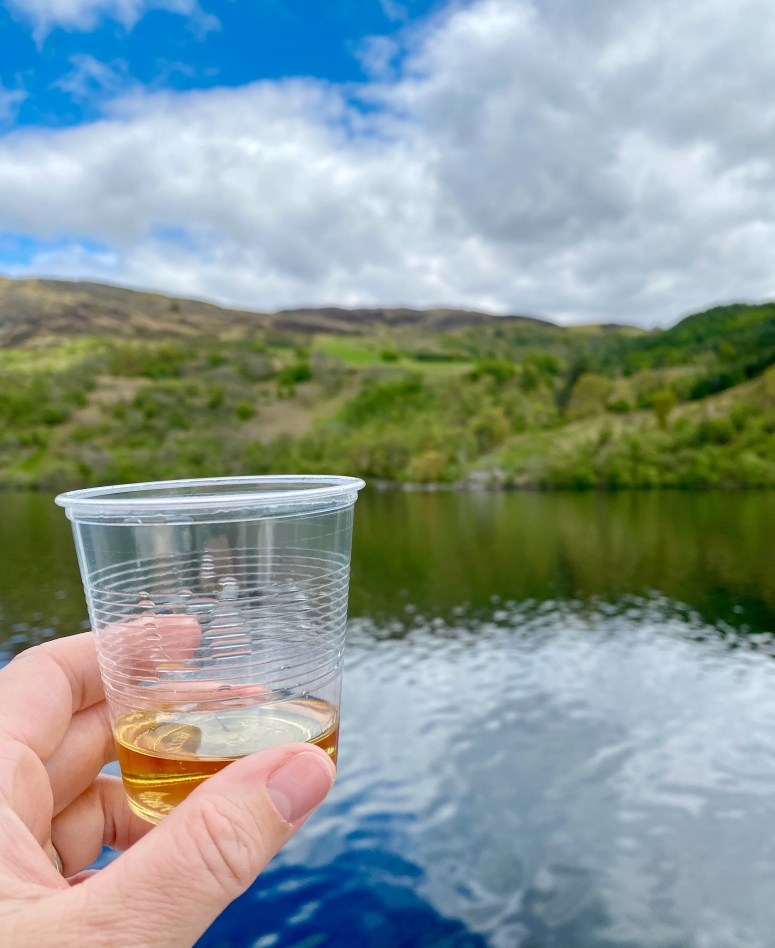 Whisky aboard Cruise Loch Ness
