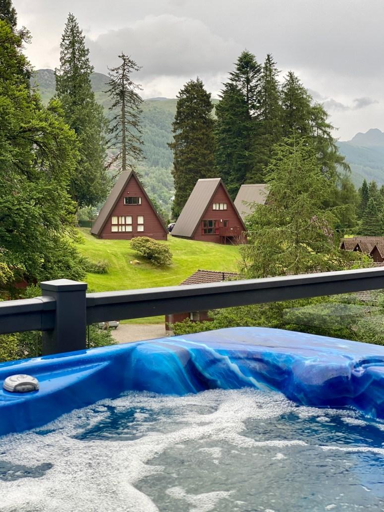 Hot tub lodge Argyll