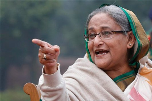 Daughter of murdered Mujibur, current President of Bangladesh, and head of Awami Party. After temporarily aligning with Khaleda to oust Ershan, she turned on Khaleda. The two loathe each other now.