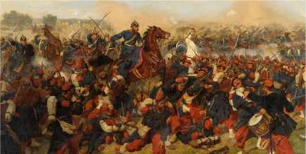 Here is an image depicting the stunning Prussian victory over the French at the Battle of Mars-La-Tor during the Franco-Prussian War of 1870. Had the French been better prepared for the kind of warfare that the Prussian-led German army practiced, they might have won the day, and changed the outcome of the war.