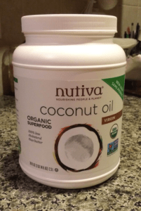 I use coconut oil for just about everything.