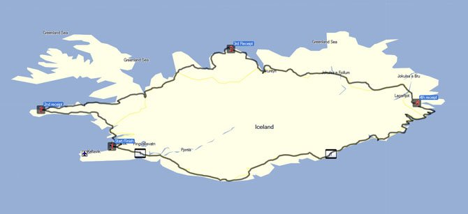 Iceland SS1000 Route