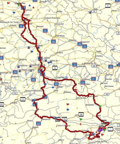 European Roadrunner Rally, 961 Miles