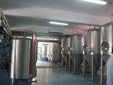 inside the Corfu Beer Microbrewery