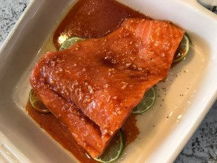 The Well-Intended's Sriracha Lime Salmon Marinating