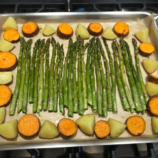 The Well-Intended's Roasted Asparagus and Potatoes
