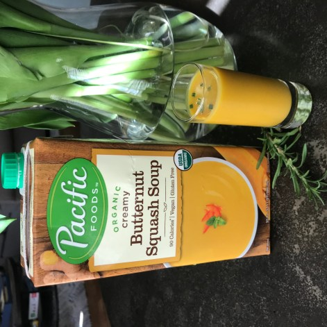 The Well-Intended Butternut Squash Soup Shooters with Rosemary