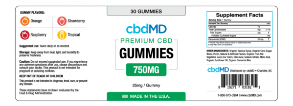 cbd-kafe,CBD Gummies - 750mg,CBDMD,Broad Spectrum