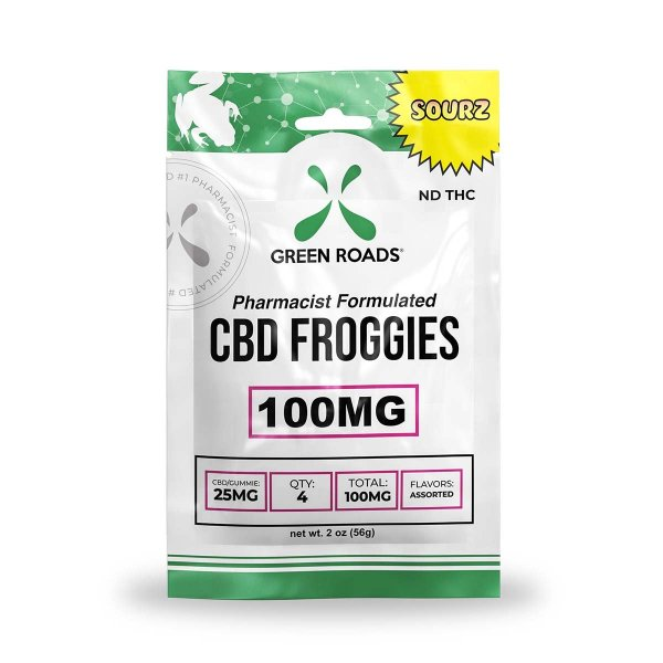 cbd-kafe,CBD Sourz Froggies – 100 mg,Green Roads,Broad Spectrum