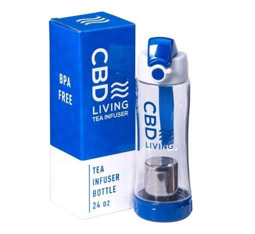 cbd-kafe,CBD Living Tea Infuser Bottle,CBD Living,CBD Drinks & Water