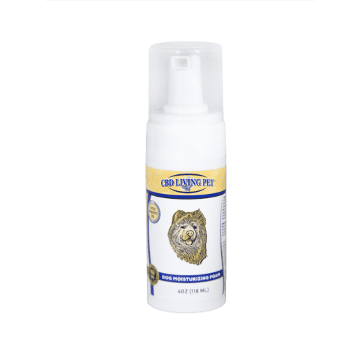 cbd-kafe,CBD Living Dog Moisturizing Foam 100mg,CBD Living,CBD For Pets