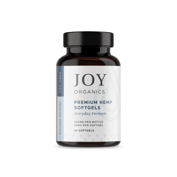 cbd-kafe,Joy Organics CBD Softgels 10 mg & 25 mg,Joy Organics,Broad Spectrum