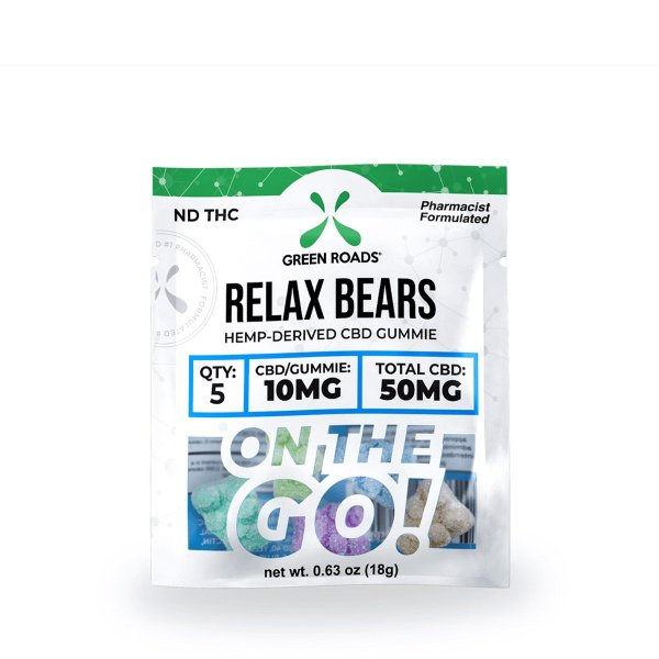 cbd-kafe,CBD Relax Bears OTG – 50 mg,Green Roads,Broad Spectrum