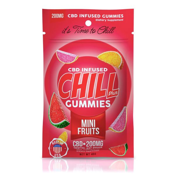 Chill Plus Gummies - CBD Infused Mini Fruits - 200mg
