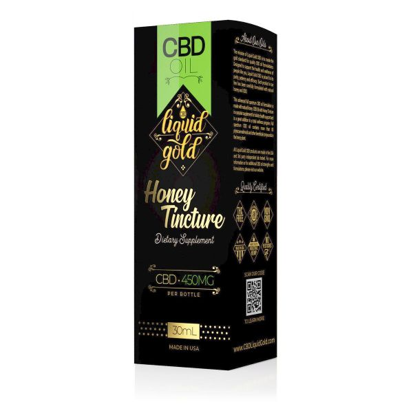 cbd-kafe,Liquid Gold CBD Oil Honey Tincture - 450mg (30ml),Liquid Gold,Full Spectrum