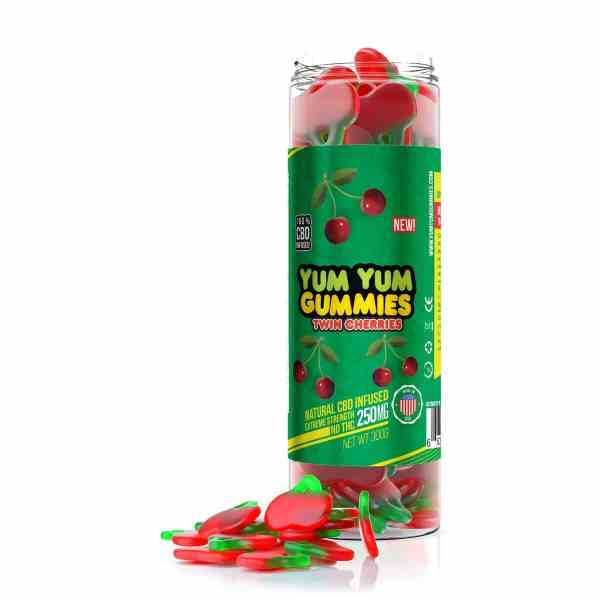 Yum Yum Gummies 250mg - CBD Infused Twin Cherries