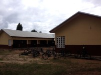 This is the school in Suhum where 15 girls were given bikes last February. My job is to track them down, interview them, and check up on the state of their bikes.