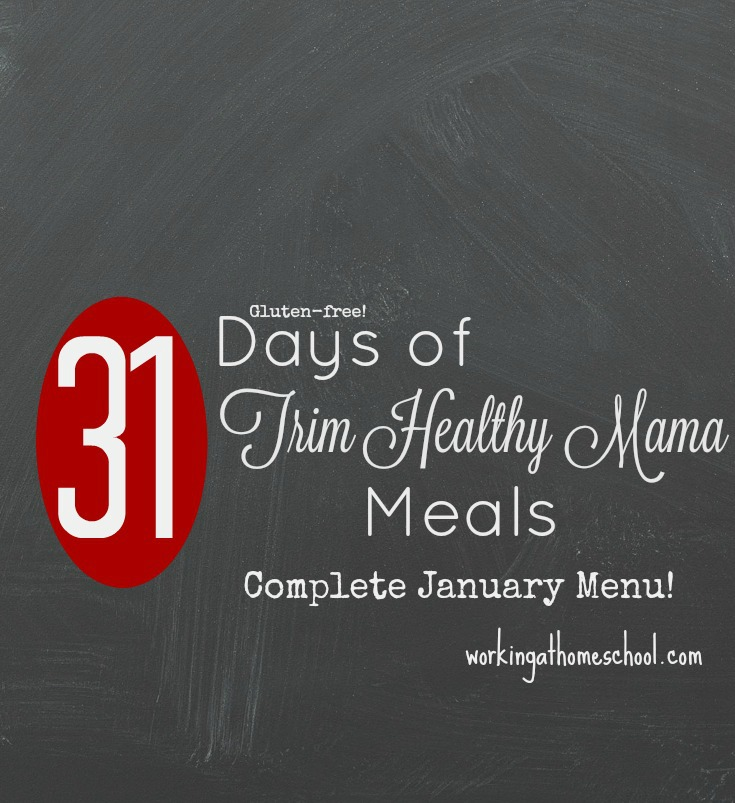 31 days of THM meals - breakfasts, lunches, dinners, snacks! With shopping lists!