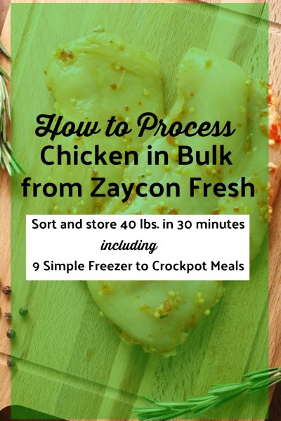 How to Process Zaycon Chicken