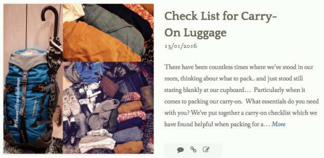 thewelltravelledman check list for carry-on luggage