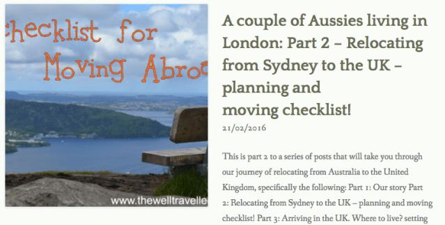thewelltravelledman moving abroad checklist
