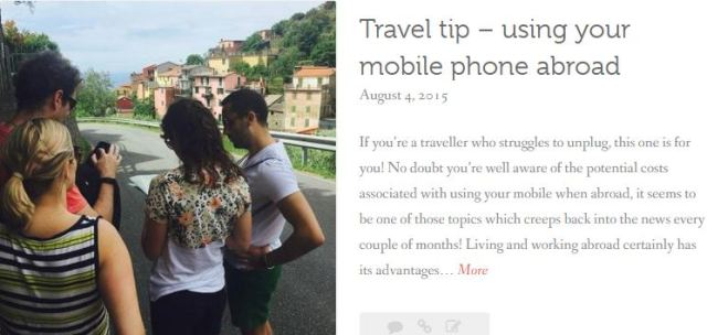 thewelltravelledman travel blog Travel tip 2. using your mobile phone abroad