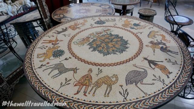 thewelltravelledman mosaic shop madaba