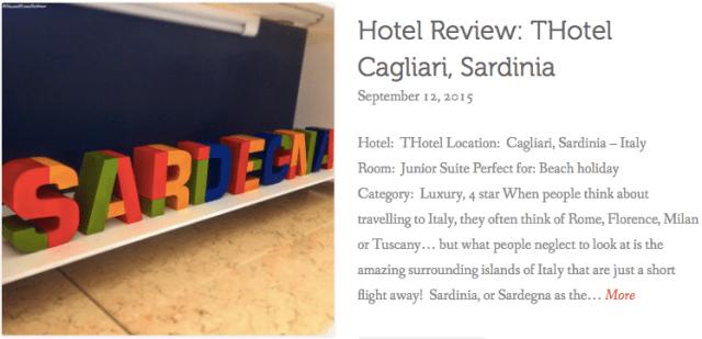 thewelltravelledman THotel Cagliari hotel review
