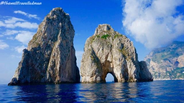 Gorgeous scenery on our way to Capri via boat