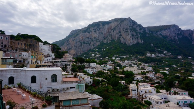 The view over the island of Capri