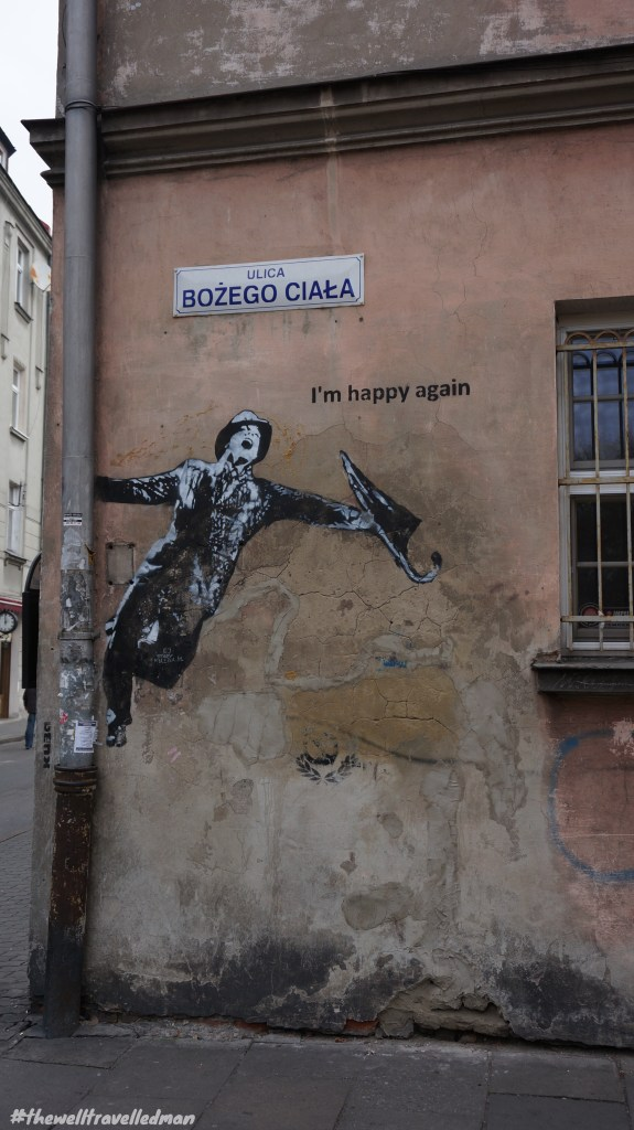 Krakow old town graffiti