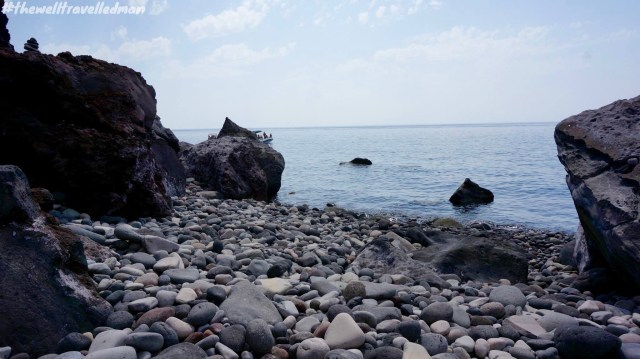 The local beach on Salina