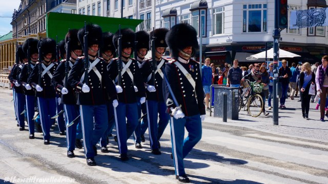 The Royal Guards walking down the street!