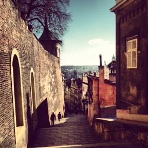 Path winding down from Prague Castle