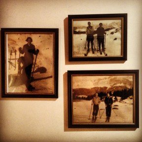 Vintage photos in th Chalet Chambertin