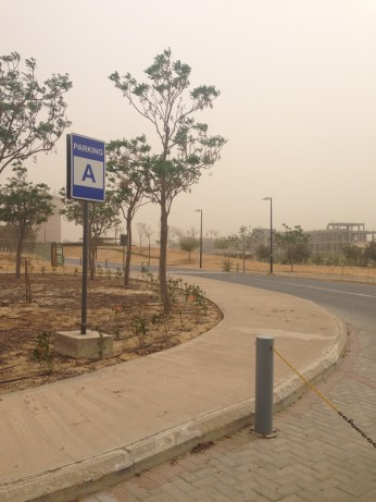 Sandstorms whipped up from the south.